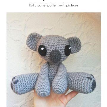 Amigurumi koala with heart - printable PDF – Amigurumi Today Shop | 360x360